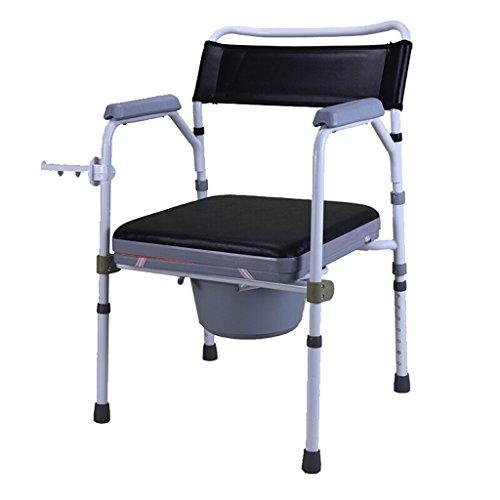 MMM@ Chaise Chaise de bain Siège de toilette Femmes enceintes Vieil homme Chaise pot Sturdy étanche Alliage d'aluminium chaise