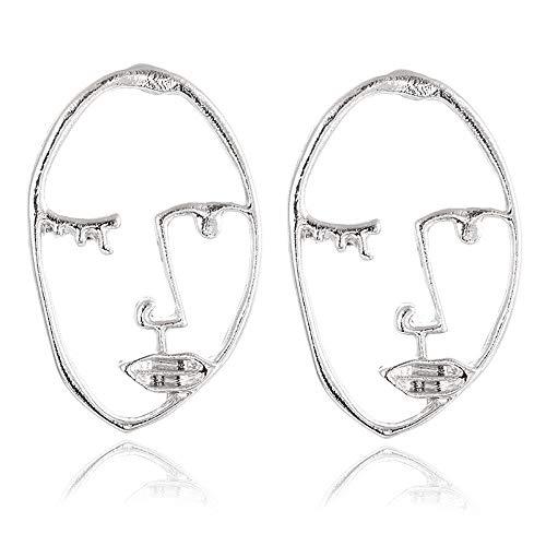 Burenqi Oorstekers, punk-gezicht voor dames, retro, abstract, handmatig metaal, modieus