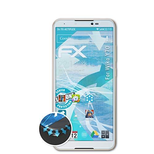 atFolix Schutzfolie kompatibel mit Wiko Y70 Folie, ultraklare & Flexible FX Bildschirmschutzfolie (3X)