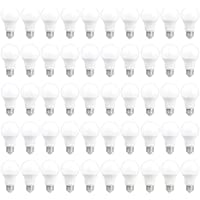 50-Pack AmazonCommercial 60 Watt Equivalent A19 LED Light Bulb