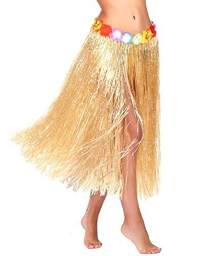 60 cm - Gonna - Gonnellina - Hawaii - Hawaiana - Moana - Vaiana - Oceania - Accessori - Travestimento - Carnevale - Halloween - Cosplay - Donna - Idea regalo per natale e compleanno