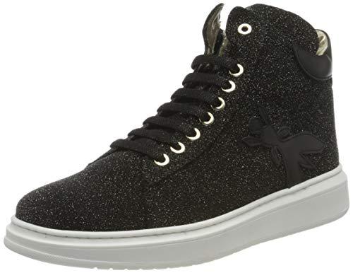 Patrizia Pepe PPJ520 Sneaker, Black + Gold, 40/40.5 EU