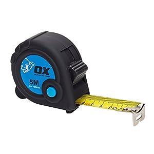 41mfaxu6nHL. SS300  - OX Tools OX-T029105 OX Comercio 5M Cinta Métrico Solo, negro/azul, 5 m