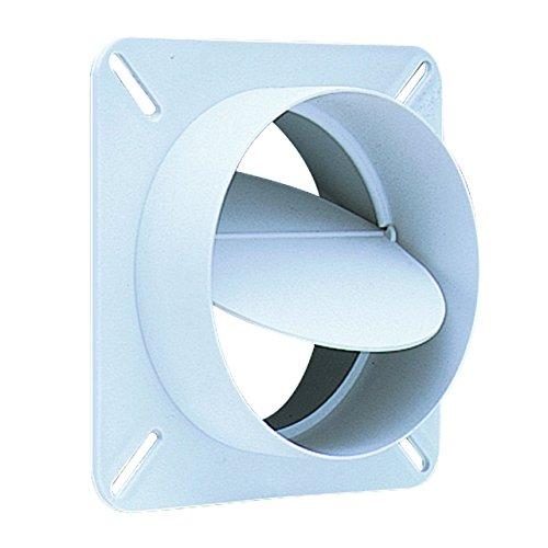 "Deflecto Plastic Dryer Vent Draft Blocker, 4"" Diameter, White (BD04)"