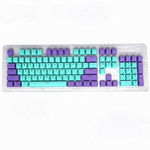 Tastenkappe ist geeignet K845104 Schlüssel PBT zweifarbige durchscheinende Tastenkappe Geeignet für Logitech K845 durchscheinende PBT-104-Tasten-Mehrfarben-Tastenkappe für Tastatur