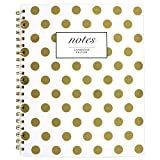Cambridge Business Notebook, Hardcover, 80 Sheets, 11 x 8-7/8', Fashion, Gold Dot (59014)