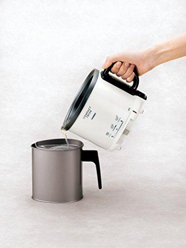 ツインバードコンパクト電気フライヤーパールホワイト家庭用卓上温度調節EP-4694PW