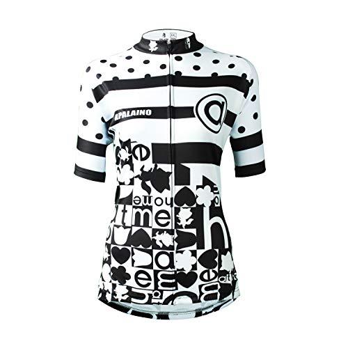 SOAR Ciclismo Conjunto de Ropa Maillot Ciclismo Mujer MTB Manga Corta,Verano Transpirable De Secado Rápido, For El Deporte Al Aire Libre Biking De Ciclo Equipacion (Color : Black, Size : 2XL)