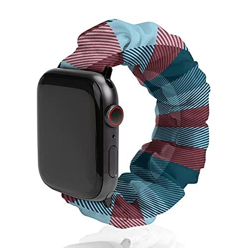 Cinturino da uomo e donna compatibile con Apple Watch 42 mm/44 mm, morbido elastico elastico di ricambio per iWatch Series SE 6/5/4/3/2/1, Sailor'S Madras Plaid