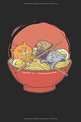 Katzen Nudeln: Katzen Notizbuch Mit 120 Linierten Seiten (Linien) Inkl. Seitenangabe. Als Geschenk Eine Tolle Idee Für Katzenliebhaber, Kater Freunde Und Schnurren