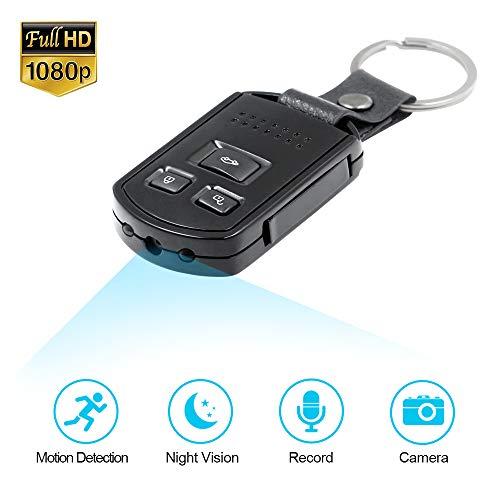 Mini Kamera Schlüsselanhänger Kamera Schlüsselbund TANGMI 1080P HD Bewegungserkennung Überwachung Haussicherheit Videokamera Nanny Cam