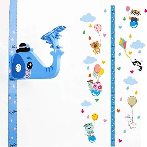 Baby Wachstum Messlatte,3D Beweglicher Elefantenkopf Höhenmesser Messlatte für Kinder Messleiter Lineal Messtabelle,Wandbehang Dekorative Messlatten für Kinderzimmer Schlafzimmer Wanddekoration