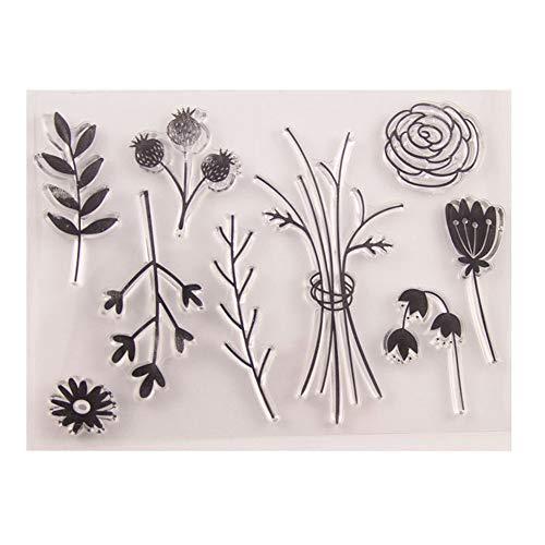 DIY uw eigen bloemen laat rozen duidelijke stempels voor kaart maken decoratie en Scrapbooking rubber stempels voor ambacht