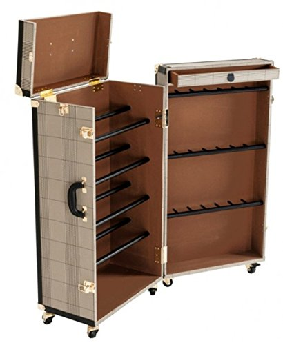 Casa Padrino Schuh Schrank im Vintage Koffer Design - Kommode - Art Deco Barock Jugendstil Kofferschrank Hotel Einrichtung