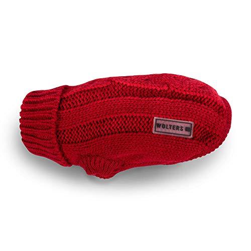 Wolters   Zopf-Strickpullover - rot   Rückenlänge 30 cm