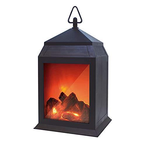 Lampada elettrica per camino, camino, fuoco artificiale, caminetto elettrico, senza fili, funzionamento a batteria, 6 LED, per creare un'atmosfera domestica a casa