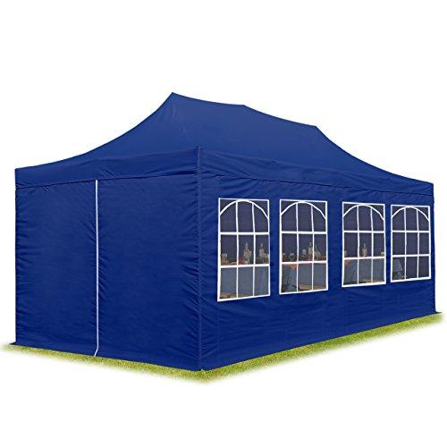 TOOLPORT 3x6m Pavillon Faltpavillon inkl. Seitenteile Stahl Faltzelt Garten Partyzelt blau