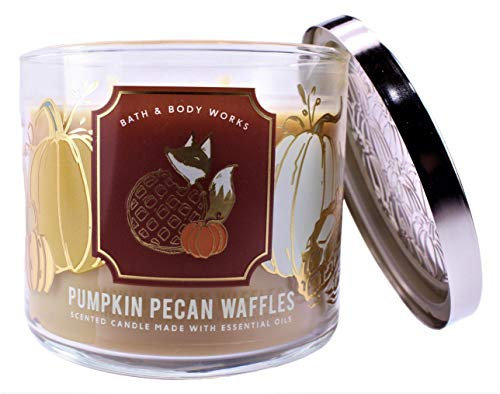 White Barn Bath and Body Works Pumpkin Pecan Waffles 3 Wick Scented Candle 14.5 Ounce