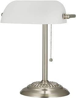 Ravenna Home Contemporary Banker's Desk Lamp with LED Light Bulb, 13.5