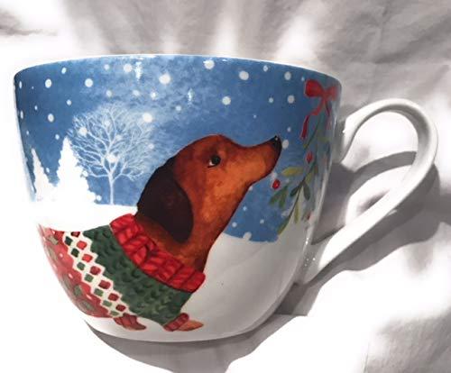 Portobello By Inspire Dachshund Wiener Dog Christmas Holiday Bone China Large Mug