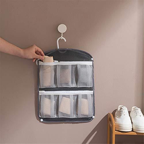 Decoración de la habitación Plegable ropero bolsa de almacenamiento Underware calcetines colgados de la pared de viaje bolso de la colada de múltiples bolsillos de tela de poliéster organizador de los