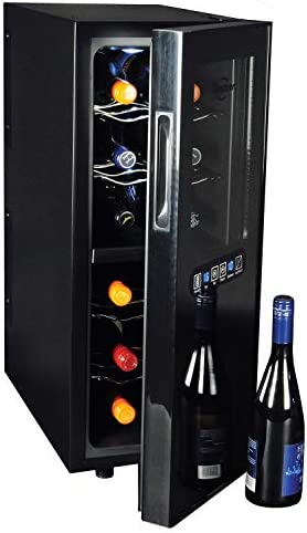 Koolatron Dual Temperature Zone 12 Bottle Thermoelectric Wine Cooler Cellar for Red and White product image