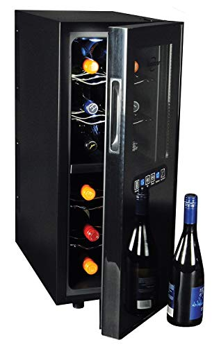 Koolatron Dual Temperature Zone 12-Bottle Thermoelectric Wine Cooler Cellar for Red and White Wine in Home Bar, Kitchen…