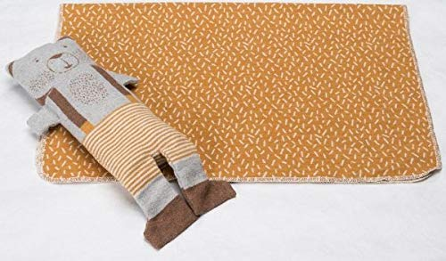 Fussenegger - Juwel Set - Decke in Puppe - Bär - goldgelb - 70 x 90 cm