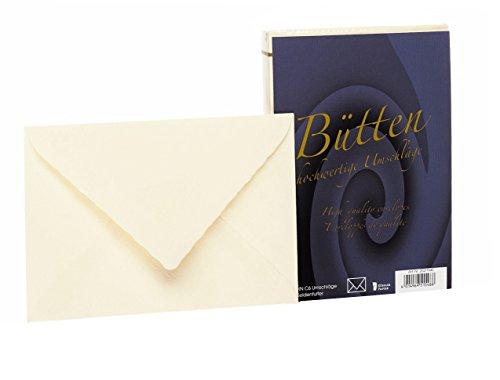 Rössler 20211940 - Bütten - Briefhüllen gefüttert, C6, 25 Stück, ivory