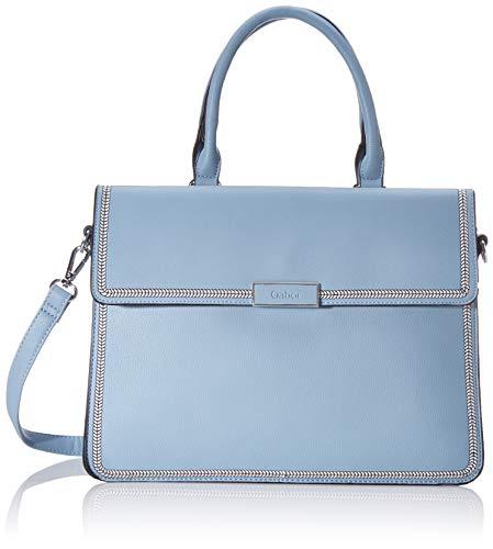 Gabor Shopper Damen, Hellblau, Nueva, 33x13x26 cm, Handtasche, Umhängetasche