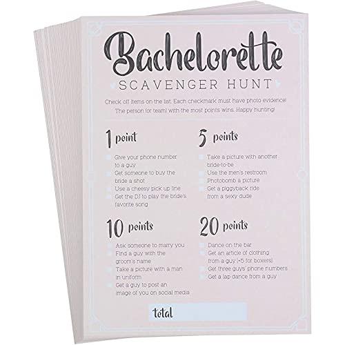 Bachelorette Party Spiele – 50 Stück Bar Schnitzeljagd Trinkspiel & Pflicht, lustige Neuheitskarten für Mädchen Nacht Out, Bachelorette Party Supplies, 12,7 x 17,8 cm
