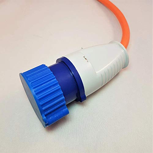 3D Cabin 16 Amp secteur prise électrique Housse anti-poussière pour camping-car/caravane/camping Hookup câble : Bleu