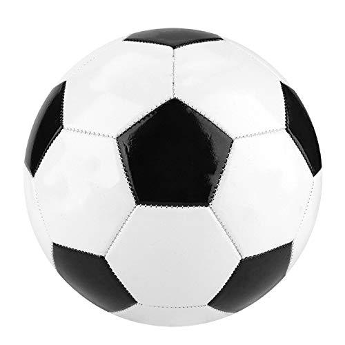 Nicoone Balón de fútbol, talla 5, color negro, blanco, para entrenamiento de equipo de estudiantes, para niños, jóvenes y adultos, 1 unidad