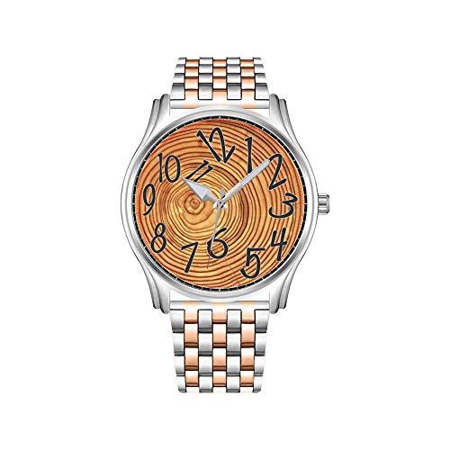 May28th - Reloj de hombre de acero inoxidable, color oro rosado