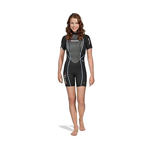 Mares Shorty Reef 2.5 She Dives – Combinaison de plongée pour Femme, Couleur Noir, Noir