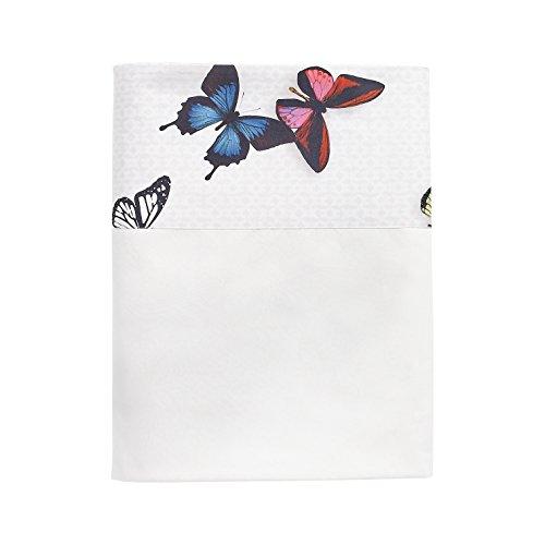 Essix - Drap Plat Thaïs Percale de Coton Multicolore 180 x 290 cm