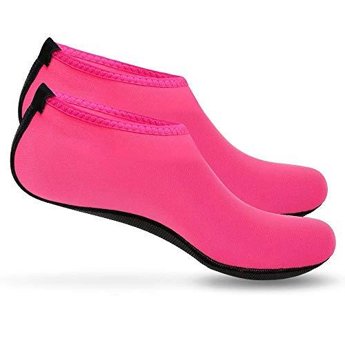 Boolavard Scarpe Sport Acquatici Barefoot Quick-Dry Aqua Yoga Slip Slip-on per Uomo Donna Bambino (M - 38-39 EU, Rosa)