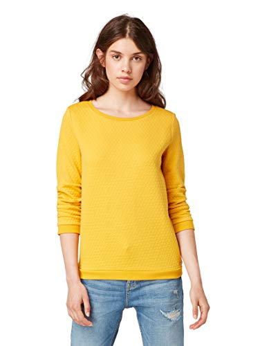 TOM TAILOR Denim Strick & Sweatshirts Pullover mit Strukturmuster  Sunflower, S