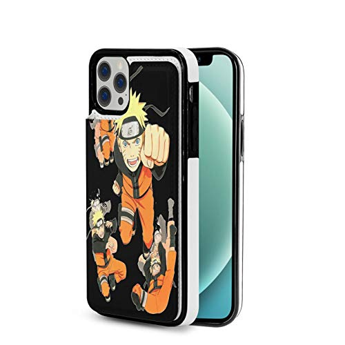 Case Compatible with IP12 Pro-6.1 Inch Anime NAR-uto Poster PU Leather Folio Flip Stand Wallet Case Cover with Slots Shockproof Protective Phonecase