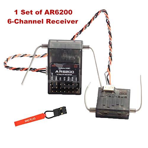 Spektrum AR6200 2.4G 6-Kanal 6CH Empfängersatellit Spek Generische DX6i DSM2 Jr DX7 RC Drohnenfernbedienung