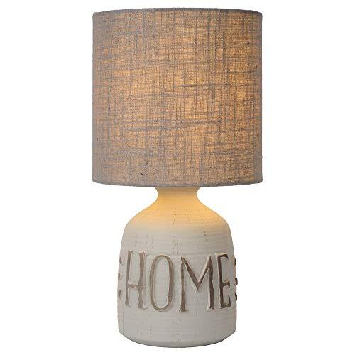 Tischleuchte Tischleuchte Höhe 325mm grau COSBY E14 Keramik Nachttischleuchte Innenleuchte Wohnzimmer | 1-flammig
