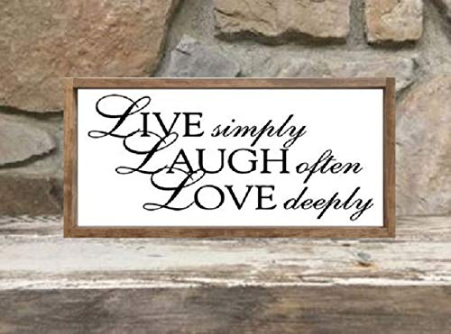 Amazon Com Live Laugh Love Farmhouse Custom Wood Sign 12x24 Framed Handmade,Baby Shower Decorations For Girl Elephant Theme