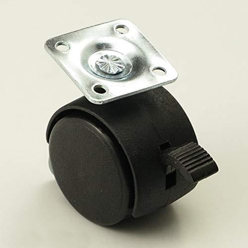 JYSLI Kommt Schwarz 40mm Heavy Duty Bürostuhl Sofa Swivel Caster Trolley Universal-Brems Räder schwer (Color : Black)