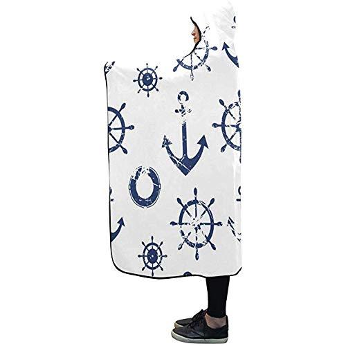 Henry Anthony Hooded Blanket Lenkrad Rettungsdecke 50x40 Zoll Comfotable Hooded Throw Wrap