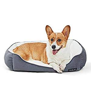 ANWA Dog Bed Small Dogs, Small Pet Bed, Washable Dog Bed for Large Dogs Deep Grey 24 Inch
