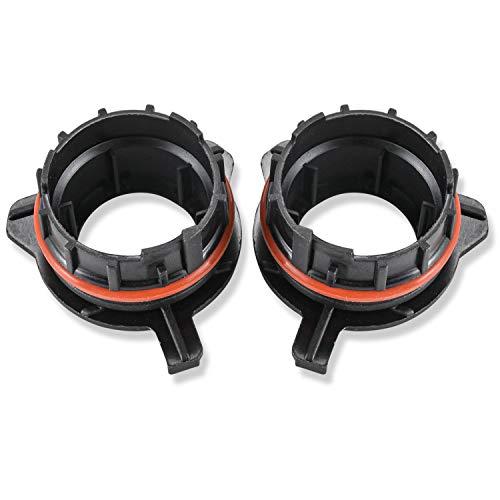 KATUR H7 Adaptadores Soportes Retenedores Base para Bombilla de Faro LED H7 para BMW E39-1 5 Series 520/530 E60/E200/728LI (Paquete de 2)