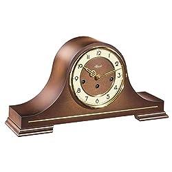 Hermle 21092030340 Stepney Mechanical Tambour Mantel Clock - Walnut
