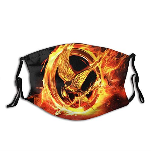 NCK Unisex Balaclava The Hunger Games Mockingjay Face Mask Bandana Adjustable Earloop Mouth Face Cover for Adult with 2 Filter Medium