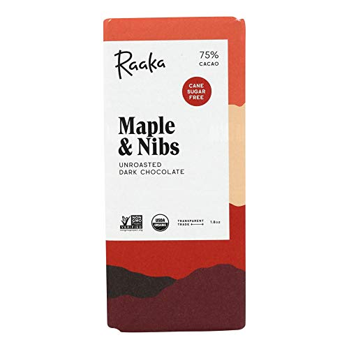 Raaka オーガニック メープル&カカオニブ ローチョコレート75%(メープルとカカオニブの二重奏)
