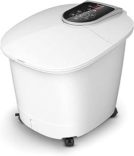 المنزلية الحرارية حمام القدم حمام أوتوماتيكي حمام أوتوماتيكي تدليك كهربائي تسخين حمام القدم (Color : White, Size : 47.8 * ...